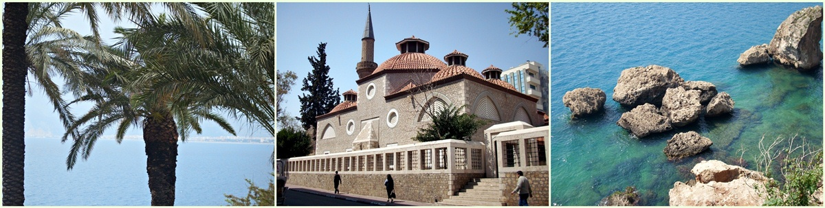 Antalya, Palmen, Meer, Moschee