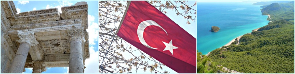 Tuerkei Fahne, Sagalassos, Luftaufnahme