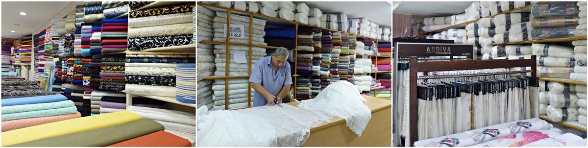 Stoffe und Vorhänge kaufen, Antalya