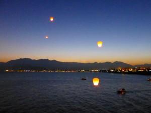 Heißluftballons, Mittelmeer, Antalya, Tuerkei