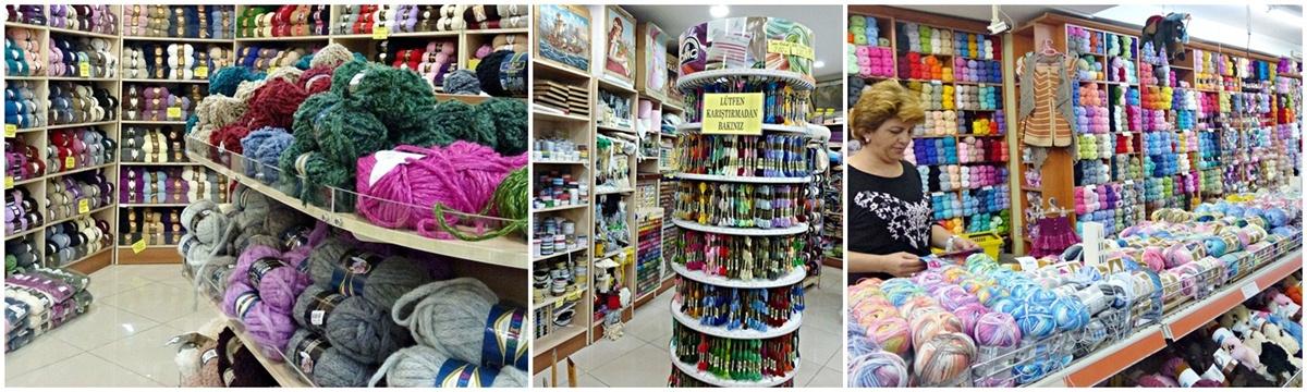 Handarbeitsladen Antalya, Wolle, Haekelgarn, Stickgarn