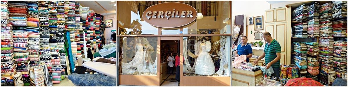 Stoffladen, Kleiderstoffe, Stoffe fuer Heimtextilien, Antalya