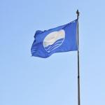 Türkei, blaue Flagge am Strand, Strandurlaub, sauber