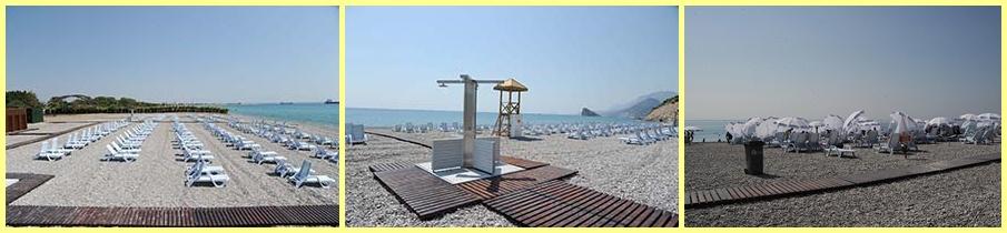 Ruhiger und schöner Strand für Frauen (Antalya)
