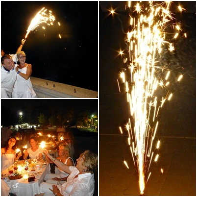 White Dinner - Feuerwerk und Lichter